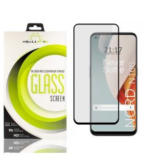 Cristal templado Full Glue 11D Premium One Plus Nord N100 Protector de Pantalla Curvo Negro