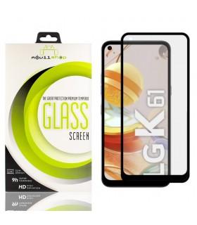 Cristal templado Full Glue 11D Premium LG K61 Protector de Pantalla Curvo Negro
