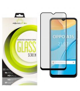 Cristal templado Full Glue 11D Premium OPPO A15 Protector de Pantalla Curvo Negro