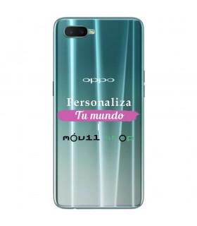 Personaliza tu Funda [OPPO R15x] de Silicona Flexible Transparente Carcasa Case Cover de Gel TPU para Smartphone