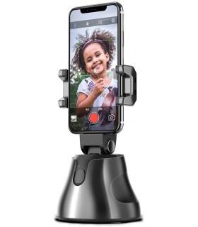 Soporte estabilizador para teléfonos móviles, soporte inteligente, 360°, foto de seguimiento de teléfono para grabación de  VLOG