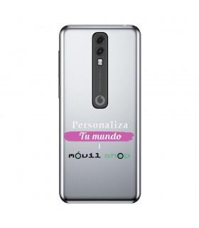 Personaliza tu Funda [Vodafone Smart V10] de Silicona Flexible Transparente Carcasa Case Cover de Gel TPU para Smartphone