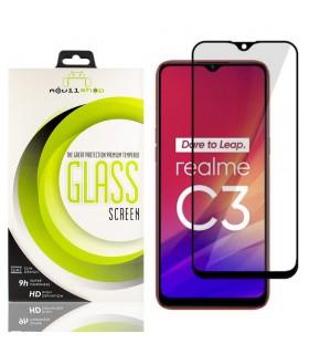Cristal templado Full Glue 11D Premium Realme C3 Protector de Pantalla Curvo Negro