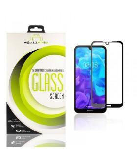 Cristal templado Full Glue 11D Premium Huawei Y5 2019 Protector de Pantalla Curvo Negro