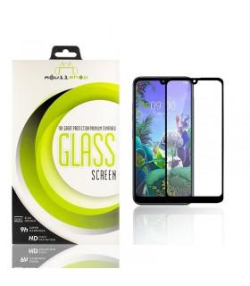 Cristal templado Full Glue 11D Premium LG K50 / Q60 Protector de Pantalla Curvo Negro