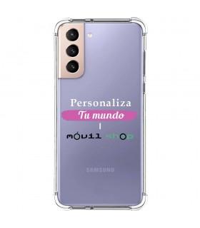 Funda Personalizada [Samsung Galaxy S21 Plus] Esquina Reforzada Silicona 1.5mm de grosor Flexible Transparente de Gel TPU