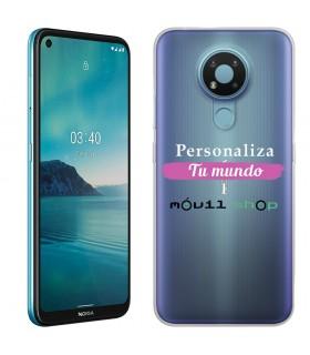 Personaliza tu Funda [Nokia 3.4] de Silicona Flexible Transparente Carcasa Case Cover de Gel TPU para Smartphone