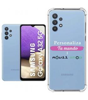 Funda Personalizada [Samsung Galaxy A32 5G] Esquina Reforzada Silicona 1.5mm de grosor Flexible Transparente de Gel TPU