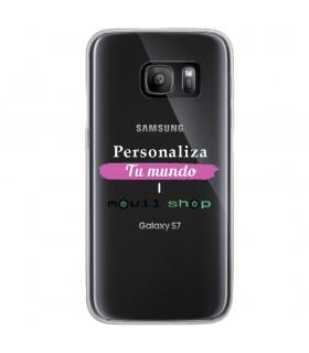 Personaliza tu Funda [Samsung Galaxy S7] de Silicona Flexible Transparente Carcasa Case Cover de Gel TPU para Smartphone