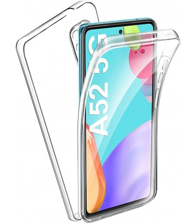 Funda 360 [Samsung Galaxy A52 5G] PC + TPU Carcasa Doble Cara 360 de Silicona Delantera + Trasera Rigido Reforzada