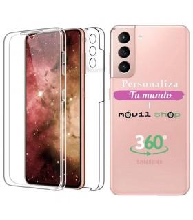 Personaliza tu Funda Doble 360 [Samsung Galaxy S21]  PC + TPU Carcasa Doble Cara de Silicona Delantera + Trasera Transparente.