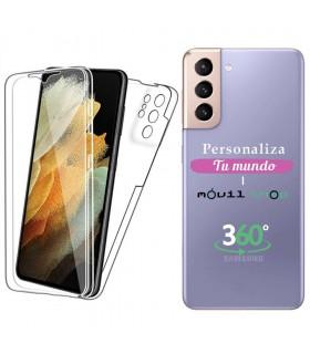 Personaliza tu Funda Doble 360 [Samsung Galaxy S21 Ultra]  PC + TPU Carcasa Doble Cara de Silicona Delantera + Trasera.