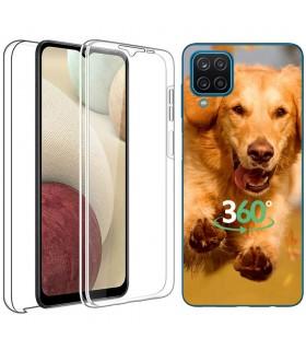 Personaliza tu Funda Doble 360 [Samsung Galaxy A12]  PC + TPU Carcasa Doble Cara de Silicona Delantera + Trasera Transparente.