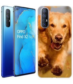 Personaliza tu Funda [OPPO Find X2 Neo] de Silicona Flexible Transparente Carcasa Case Cover de Gel TPU para Smartphone