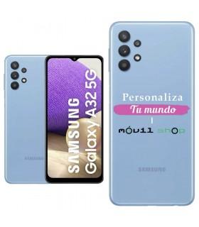 Personaliza tu Funda [Samsung Galaxy A32 5G] de Silicona Flexible Transparente Carcasa Case Cover de Gel TPU para Smartphone
