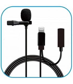 Cable lightning  con clip y micrófono