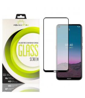 Cristal templado Full Glue Premium Nokia 5.4 Protector de Pantalla Curvo Negro