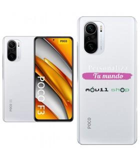 Personaliza tu Funda [POCO F3] de Silicona Flexible Transparente Carcasa Case Cover de Gel TPU para Smartphone