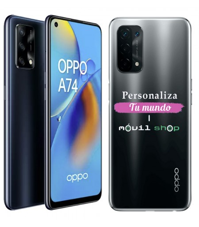 Personaliza tu Funda [OPPO A74 5G] de Silicona Flexible Transparente Carcasa Case Cover de Gel TPU para Smartphone
