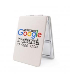 Espejo Forma de Rectangular | No Necesito Google, Mamá Lo Sabe Todo | Para el Día de la Madre | 8.5 x 6 cm
