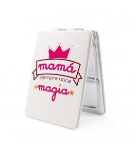 Espejo Forma de Rectangular | Mamá Siempre Hace Magia | Para el Día de la Madre | 8.5 x 6 cm