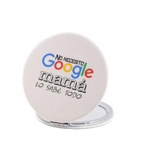 Espejo Forma Redonda   No Necesito Google, Mamá Lo Sabe Todo   Para el Día de la Madre   6 cm