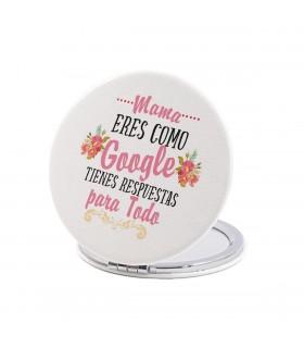 Espejo Forma Redonda   Mamá Eres Como Google...   Para el Día de la Madre   6 cm