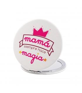 Espejo Forma Redonda   Mamá Siempre Hace Magia.   Para el Día de la Madre   6 cm
