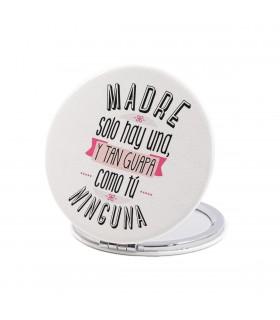 Espejo Forma Redonda   ... Y Tan Guapa   Para el Día de la Madre   6 cm