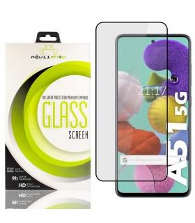 Cristal templado Full Glue 11D Premium Samsung Galaxy A51 5G Protector de Pantalla Curvo Negro