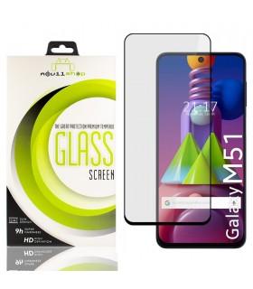 Cristal templado Full Glue 11D Premium Samsung Galaxy M51 Protector de Pantalla Curvo Negro