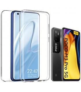 Funda 360 [Xiaomi POCO M3 Pro 5G] PC + TPU Carcasa Doble Cara 360 de Silicona Delantera + Trasera Rigido Reforzada Transparente