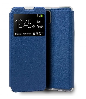 Funda Libro [Samsung Galaxy A12] Azul con Silicona TPU Resistente para Smartphone