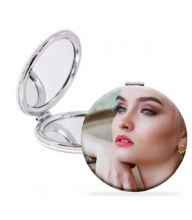 Espejo Personalizado con forma redonda|impresión a doble cara| medida 6 cm|Espejo circular
