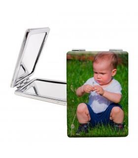 Espejo Personalizado con forma rectangular |impresión a doble cara | medida 8.5x6 cm|