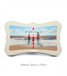 Marco portafotos rectangular |Area de impresion 27cmx14cm