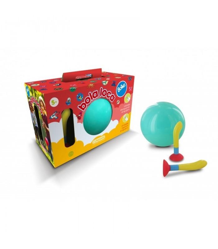 Pelota Bola Loca Boing [ Turquesa] Juguete de Aire Libre. Consiste en atrapar y lanzar la Pelota de mil Formas - COMANSI