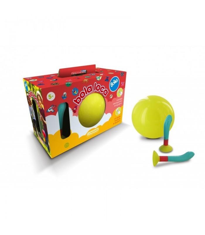 Pelota Bola Loca Boing [ Amarillo ] Juguete de Aire Libre. Consiste en atrapar y lanzar la Pelota de mil Formas - COMANSI