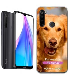Personaliza tu Funda [Xiaomi Redmi Note 8 2021] de Silicona Flexible Transparente Carcasa Case Cover de Gel TPU para Smartphone