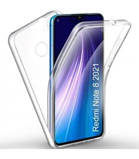 Funda 360 [Xiaomi Redmi Note 8 2021] PC + TPU Carcasa Doble Cara 360 de Silicona Delantera + Trasera Rigido Reforzada Clear
