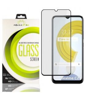 Cristal templado Full Glue Premium Realme C21 Protector de Pantalla Curvo Negro