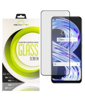Cristal templado Full Glue Premium Realme 8 5G Protector de Pantalla Curvo Negro