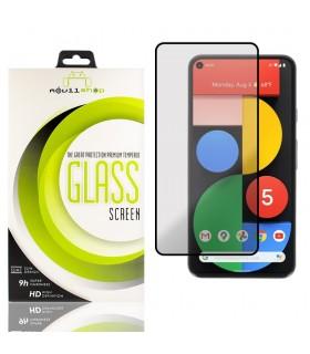 Cristal templado Full Glue Premium Google Pixel 5a Protector de Pantalla Curvo Negro