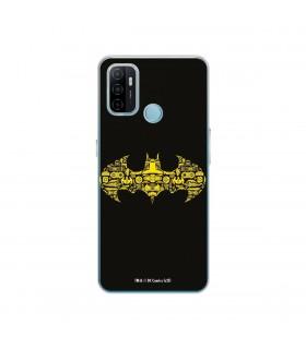 Funda para [OPPO A53] DC Justice League Oficial [Simbolo Batman] Silicona Flexible Carcasa para Smartphone.