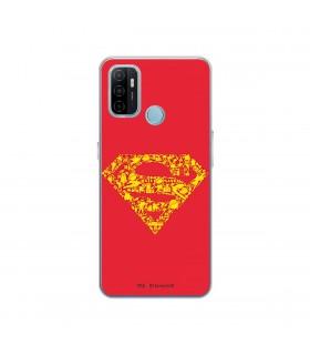 Funda para [OPPO A53s] DC Justice League Oficial [Simbolo Superman] Silicona Flexible Carcasa para Smartphone.
