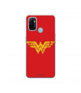 Funda para [OPPO A53s] DC Justice League Oficial [Wonder Woman Símbolo] Silicona Flexible Carcasa para Smartphone.