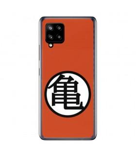 Funda para [Samsung Galaxy A42 5G] Dragon Ball Oficial [Kame Símbolo] Silicona Flexible Carcasa para Smartphone.