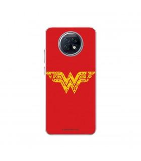 Funda para [Xiaomi Redmi Note 9T] DC Justice League Oficial [Wonder Woman Escudo] Silicona Flexible Carcasa para Smartphone.