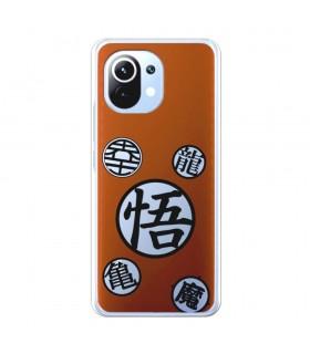 Funda para [Xiaomi Mi 11] Dragon Ball Oficial [Kame Símbolo] Silicona Flexible Carcasa para Smartphone.