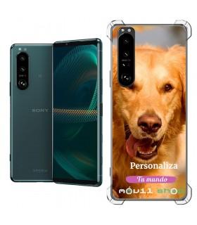 Funda Personalizada [Sony Xperia 5 III] Esquina Reforzada Silicona 1.5mm de grosor Flexible Transparente de Gel TPU